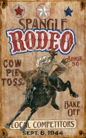 Spangle Rodeo Vintage Wood Sign