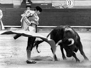 Spanish Toreador Manuel Benitez Called El Cordobes During Bullfight in Castellano De La Playa Spain