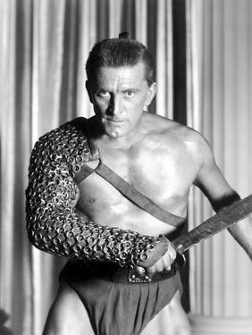 Spartacus by Stanley Kubrik with Kirk Douglas, 1960 (b/w photo)