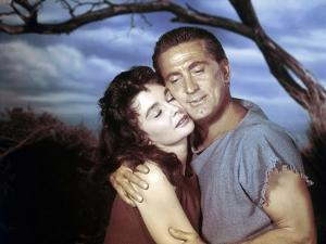 Spartacus by Stanley Kubrik with Kirk Douglas and Jean Simmons, 1960 (photo)