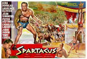 Spartacus, (Top Left): Kirk Douglas, (Belgium Poster Art), 1960
