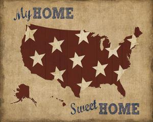 My Home Sweet Home USA Map by Sparx Studio