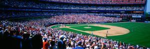 Spectators in Baseball Stadium, Shea Stadium, Flushing, Queens, New York City, New York State, US