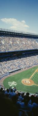 Spectators Watching a Baseball Match in a Stadium, Yankee Stadium, New York, USA