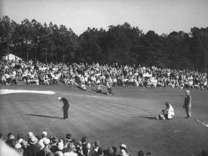 Spectators Watching as Gary Player Wins the Master's Golf Tournament