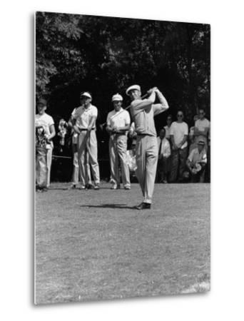 Spectators Watching Ben Hogan, Drive a Ball, at the National Open Golf Tournament