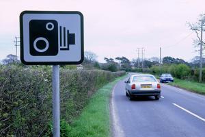 Speed Camera warning sign
