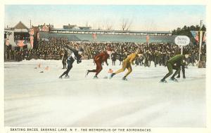 Speed Skating Races, Saranac Lake, New York