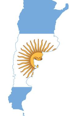 Argentina Flag On Map by Speedfighter