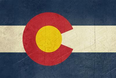 Grunge Colorado State Flag Of America, Isolated On White Background by Speedfighter