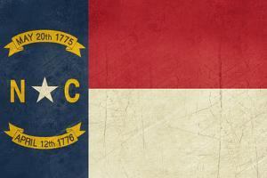 Grunge Illustration Of North Carolina State Flag, United States Of America by Speedfighter