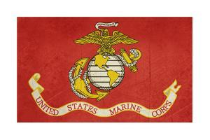 Grunge Illustration Of The United States Marine Corps Flag by Speedfighter