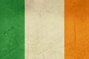 Grunge Officall Flag Of The Irish Tricolor, Republic Of Ireland by Speedfighter