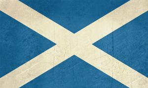 Grunge Scottish Flag Illustration, Isolated On White Background by Speedfighter