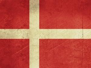 Grunge Sovereign State Flag Of Country Of Denmark In Official Colors by Speedfighter