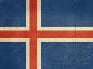 Grunge Sovereign State Flag Of Country Of Iceland In Official Colors by Speedfighter