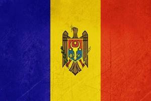 Grunge Sovereign State Flag Of Country Of Moldova In Official Colors by Speedfighter