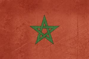 Grunge Sovereign State Flag Of Country Of Morocco In Official Colors by Speedfighter