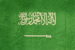 Grunge Sovereign State Flag Of Country Of Saudi Arabia In Official Colors by Speedfighter