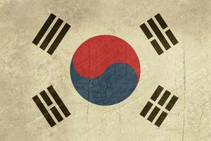 Grunge Sovereign State Flag Of Country Of South Korea In Official Colors by Speedfighter