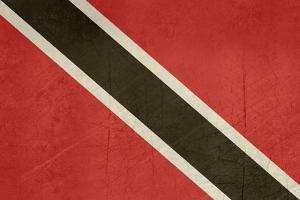 Grunge Sovereign State Flag Of Country Of Trinidad And Tobago In Official Colors by Speedfighter