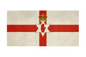 Grunge Ulster Flag Of Northern Ireland Illustration, Isolated On White Background by Speedfighter