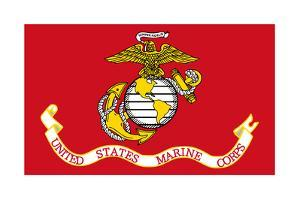 Illustration Of The United States Marine Corps Flag by Speedfighter