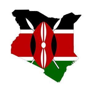 Kenya Flag On Map by Speedfighter