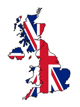 Uk Map With Flag by Speedfighter