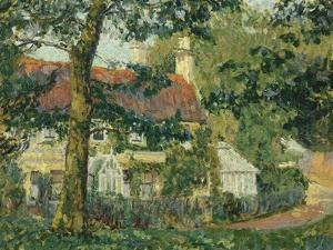 Red-Roofed Cottage, c.1909-1910 by Spencer Frederick Gore