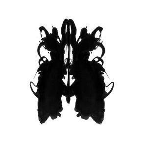 Rorschach type inkblot by Spencer Sutton