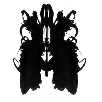 Rorschach type inkblot