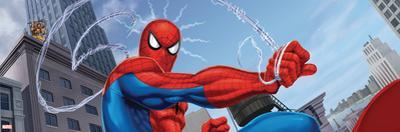 Spider-Man and Kraven the Hunter Fighting in the City