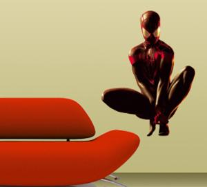 Spider-man - Crouching Wall Jammer Wall Decal