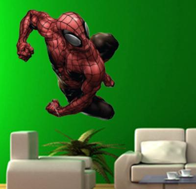 Spider-man - Lunging  Closed Fists Wall Jammer Wall Decal