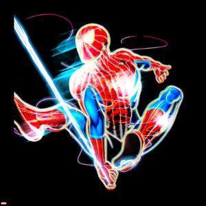 Spider-Man Neon Badge: Spider-Man Swinging