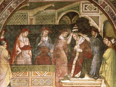 Coronation of Alexander, Scene from Stories of Alexander III, 1407-1408