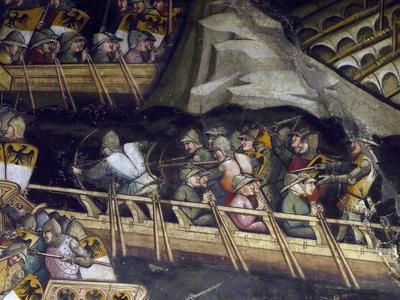 Naval Battle at Punta Di San Salvatore, Scene from Stories of Alexander III, 1407-1408