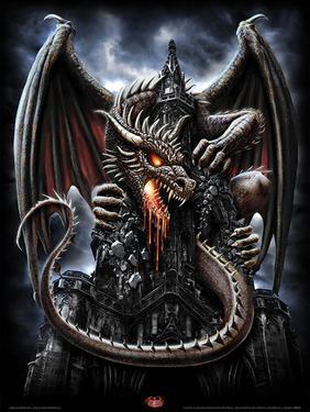 Spiral (Dragon Lava) Fantasy Poster