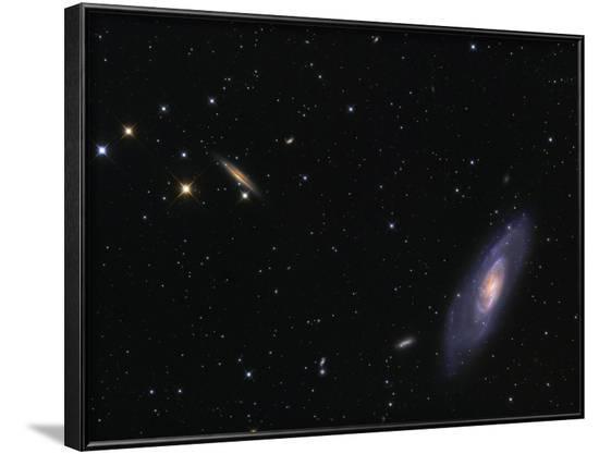 Spiral Galaxy Messier 106-Stocktrek Images-Framed Photographic Print