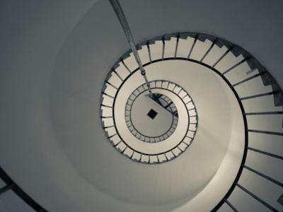 Spiral Staircase in a Lighthouse, Cabo Santa Maria Lighthouse, La Paloma, Rocha Department, Uruguay