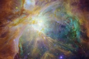 Spitzer and Hubble Create Colorful Masterpiece Space Art