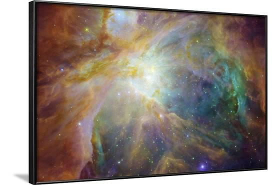 Spitzer and Hubble Create Colorful Masterpiece Space Art--Framed Photo