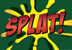 Splat! Comic Pop-Art Art Print Poster