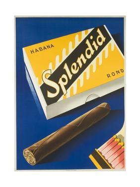 Splendid Cigar, Swiss Advertising Poster