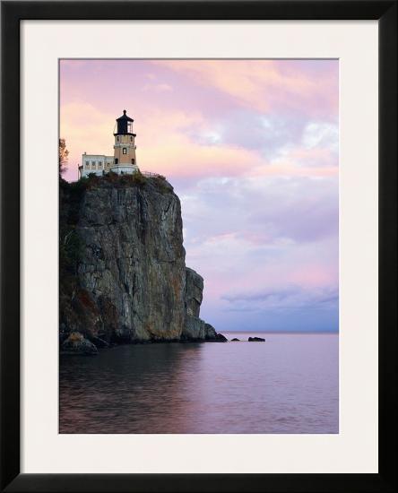 Split Rock Lighthouse on Lake Superior-Joseph Sohm-Framed Photographic Print