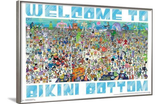 Spongebob - Every Character Ever--Framed Poster