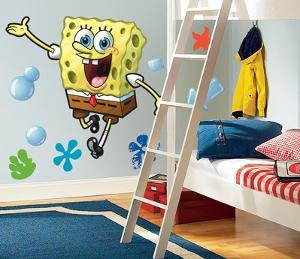Spongebob Squarepants Peel & Stick Giant Wall Decals