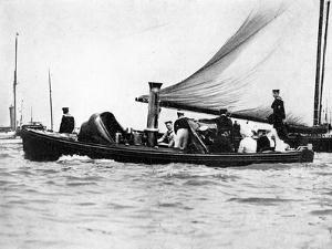 A Royal and Imperial Party at Cowes, 1910 by Sport & General