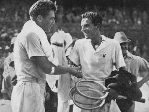 Fred Perry and FX Shields, 1934 by Sport & General